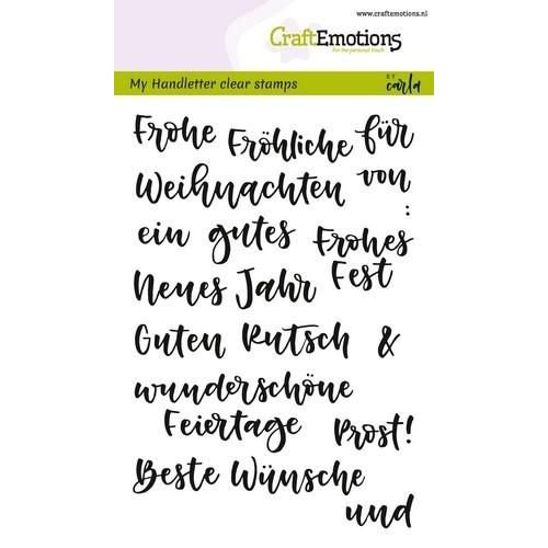 CraftEmotions CRE0237 - CraftEmotions clearstamps A6 - handletter - Wörter Weihn. kl (DE) Carla Kamphuis