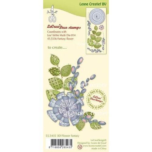 Leane Creatief 55.5435 - LeCreaDesign clear stamp 3D Fantasy Flower