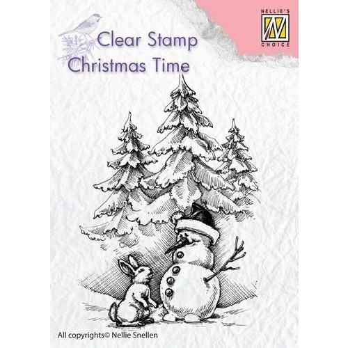 CT026 - Clear Stamp Christmas Time Snowman and rabbit