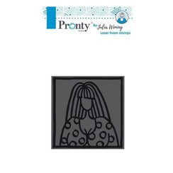 494904002 - Foam stamp 85x85mm Lovely lady by Julia Woning