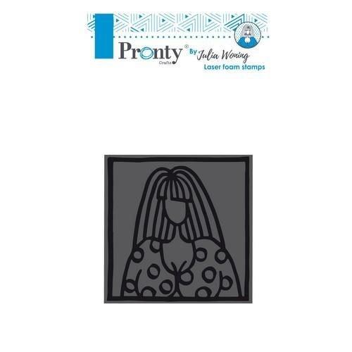 494904002 - Foam stamp 85x85mm Lovely lady by Julia Woning