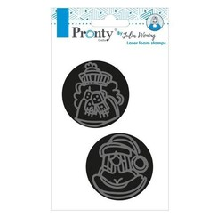 494904005 - Foam stamps 2pc Lovely lady by Julia Woning