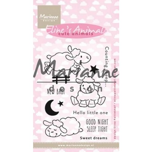 EC0175 - Clear Stamp Eline's Cute Animals - Sheep