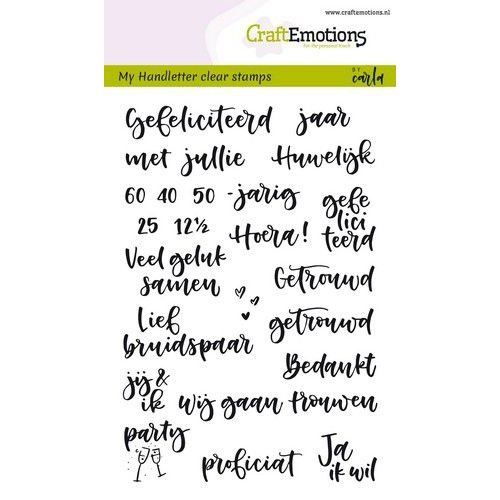 CraftEmotions CRE0264 - CraftEmotions clearstamps A6 - handletter - huwelijk (NL) Carla Kamphuis