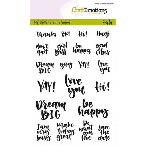 CraftEmotions CRE0268 - CraftEmotions clearstamps A6 - Bullet Journal - quotes (Eng) Carla Kamphuis