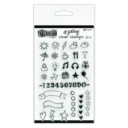 DYB65395 - Ranger Dylusions Dyalog Clear Stamp Set The Full Package 395 Dyan Reaveley