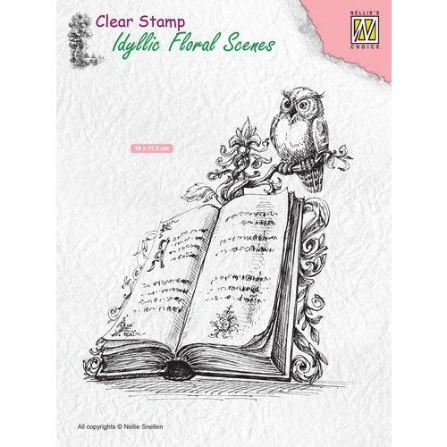 IFS013 - Clear Stamps Idyllic Floral Scenes Book with owl