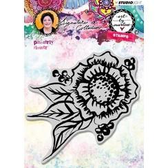 STAMPBM32 - Cling Stamp Painterly Flower, Art By Marlene 3.0, nr.32