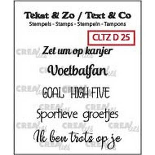Crealies CLTZD25 - Crealies Clearstamp Tekst&Zo voetbal teksten (NL) 25 6x 38mm