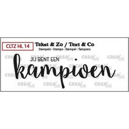 Crealies CLTZHL14 - Crealies Clearstamp Tekst&Zo Handlettering Kampioen dicht (NL) L14 27 x 80mm