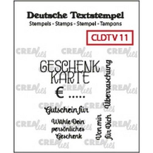 Crealies CLDTV11 - Crealies Clearstamp Tekst (DE) Geschenkkarte 11 11 32 x 35 mm