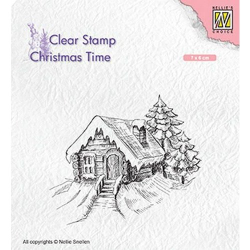CT030 - Clear Stamps Christmas Time, Cosily snowy cottage