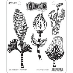 DYR69034 - Ranger Dylusions Cling Stamp Set Glorious Blooms 034 Dyan Reaveley