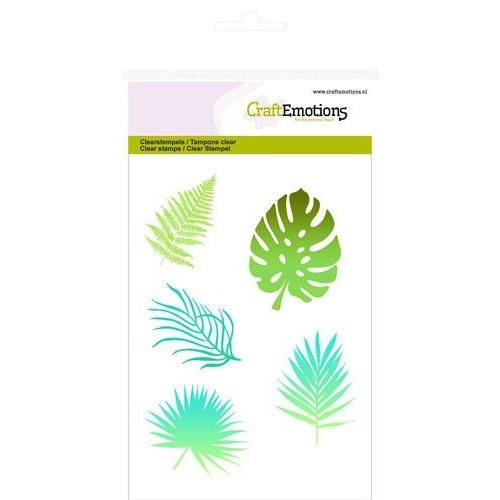 CraftEmotions CRE0279 - CraftEmotions clearstamps A6 - tropische bladeren silhouet GB