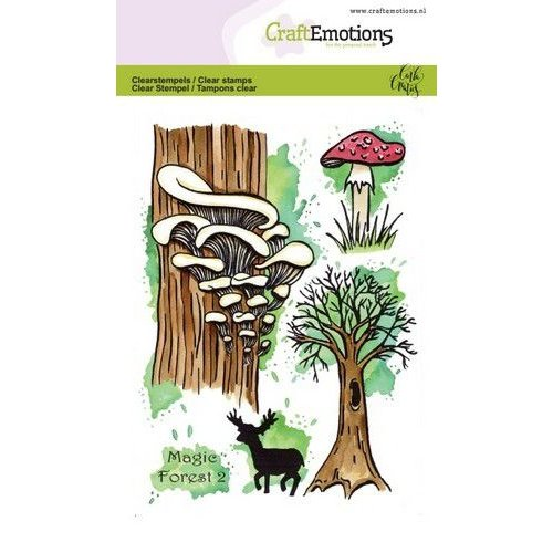 CraftEmotions CRE0315 - CraftEmotions clearstamps A6 - Magic Forest 2 Carla Creaties