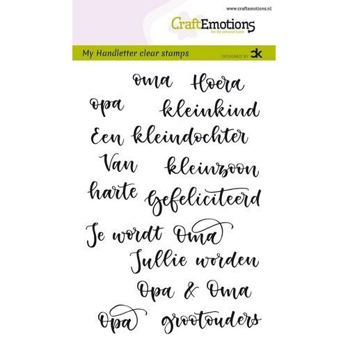 CraftEmotions CRE0298 - CraftEmotions clearstamps A6 - handletter -  Opa & Oma (NL) Carla Kamphuis