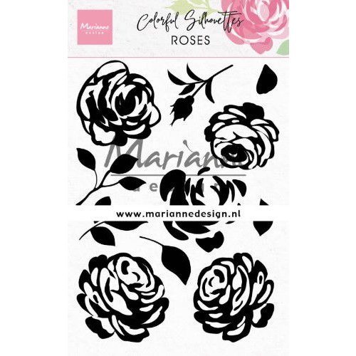 CS1046 - Clear Stamps Colorful Silhouette - Roses