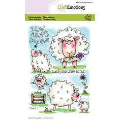 CRE0321 - CraftEmotions clearstamps A6 - Sheep 1 Carla Creaties