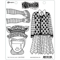 DYR73000 - Ranger Dylusions Dyalog Clear Stamp Set The Ties the Limit! 000 Dyan Reaveley