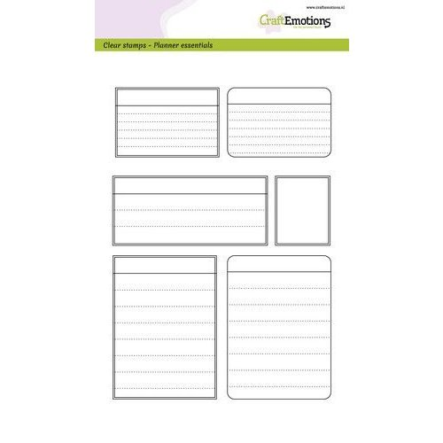 CraftEmotions CRE0343 - CraftEmotions clearstamps A5 - Planner <br /> essentials - kaders