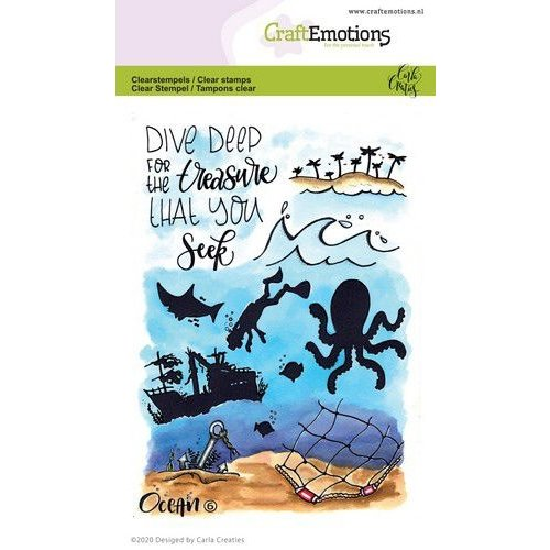 CraftEmotions CRE0325 - CraftEmotions clearstamps A6 - Ocean 6 Carla Creaties