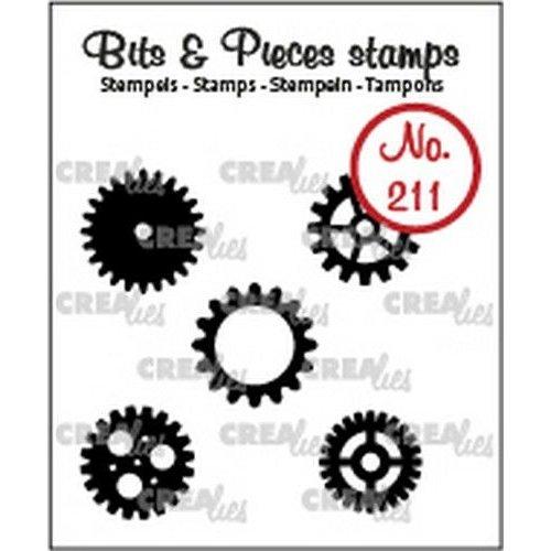 Crealies CLBP211 - Crealies Clearstamp Bits & Pieces 5x tandwielen klein (dicht) 11 5x max. 15mm