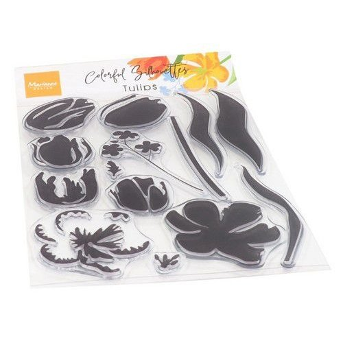 CS1054 - Clear Stamps - Colorful Silhouettes Tulips