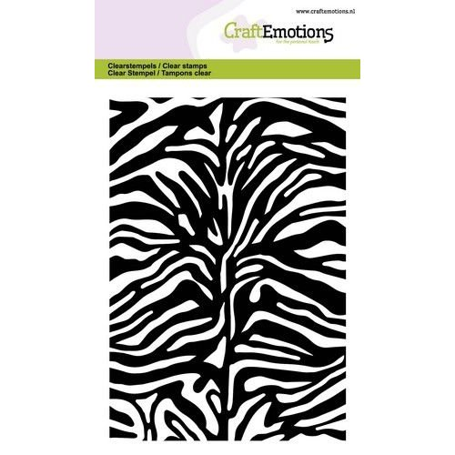 CraftEmotions CRE0347 - CraftEmotions clearstamps A6 - tijger-zebra print GB
