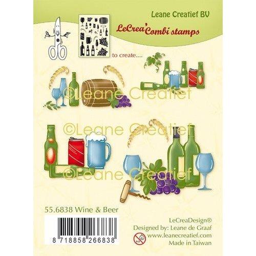 Leane Creatief 55.6838 - LeCreaDesign® combi clear stamp Wijn & Bier