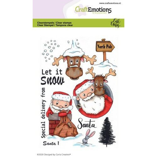 CraftEmotions CRE0364 - CraftEmotions clearstamps A6 - Santa 1 Carla Creaties
