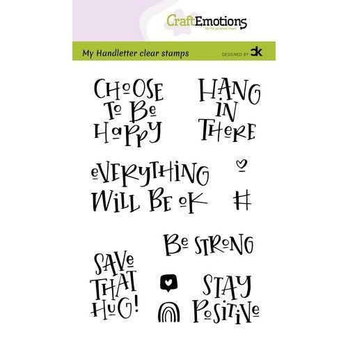 CraftEmotions CRE0382 - CraftEmotions clearstamps A6 - handletter - Choose to be happy (Eng) Carla Kamphuis