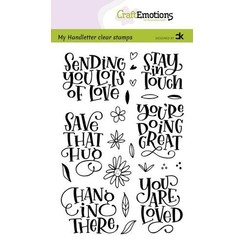 CRE0386 - CraftEmotions clearstamps A6 - handletter - Sending you lots of love Carla Kamphuis
