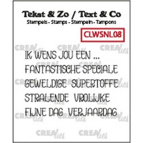 Crealies CLWSNL08 - Crealies Clearstamp Tekst & Zo woordstrips Ik wens jou een... (NL) L08 5x4x44 mm