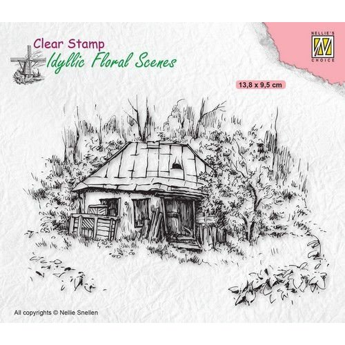 IFS027 - Clear Stamps, Idyllic Floral Scenes Old Cottage