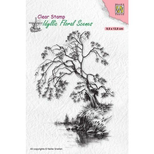 IFS030 - Clear Stamps, Idyllic Floral Scenes Tree on waterside