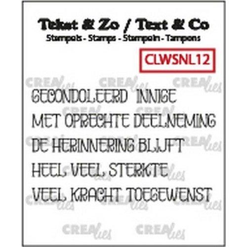 Crealies CLTZWSNL12 - Crealies Clearstamp Tekst & Zo woordstrips Overlijden (NL) CLTZWSNL12 5x4x50mm