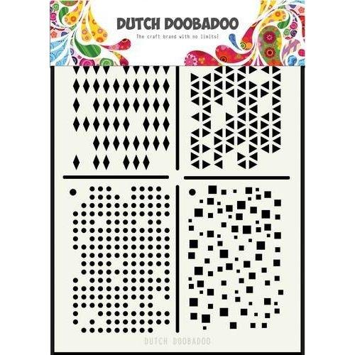 470715129 - DDBD Dutch Mask Art Multistencil 210 x 148mm