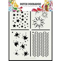 470715131 - DDBD Dutch Mask Art Multi stencil 2,  210 x 148mm