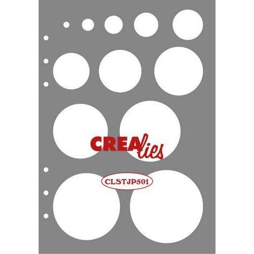 Crealies CLSTJP501 - Crealies Journalzz & Pl Stencil decoratie cirkels P501 14,5 x 20,8 cm