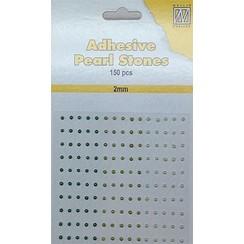APS202 - Adhesive half pearls 150 pcs 2mm 3 tinten groen