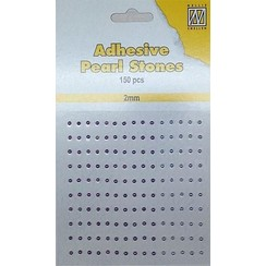 APS205 - Adhesive half pearls 150 pcs 2mm 3 tinten bruin