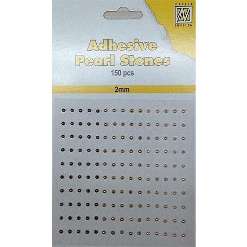 APS206 - Adhesive half pearls 150 pcs 2mm 3 tinten paars