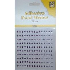 APS306 - Adhesive half pearls 150 pcs 3mm 3 tinten paars