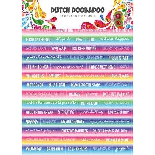 491200015 - DDBD Dutch Sticker Art A5 Text Mandalas