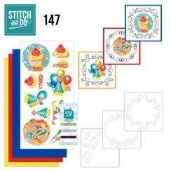 STDO147 - Stitch and Do 147 - Jeanine's Art - Happy Birthday