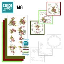 STDO146 - Stitch and Do 146 - Precious Marieke - Pretty Flowers - Red Flowers