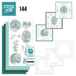 STDO144 - Stitch and Do 144 - Yvonne Creations - Wintertime - Edelweis ****Let op, zelfde patroon als 135****