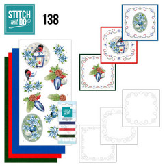 STDO138 - Stitch and Do 138 - Jeanine's Art -Christmas Flowers - Christmas Lantern