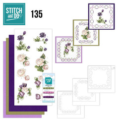 STDO135 - Stitch and Do 135 - Precious Marieke - Purple Flowers