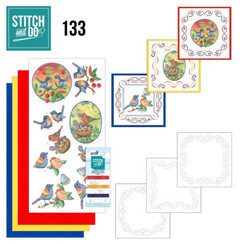 STDO133 - Stitch and Do 133 -  Jeanine's Art - Blue Birds